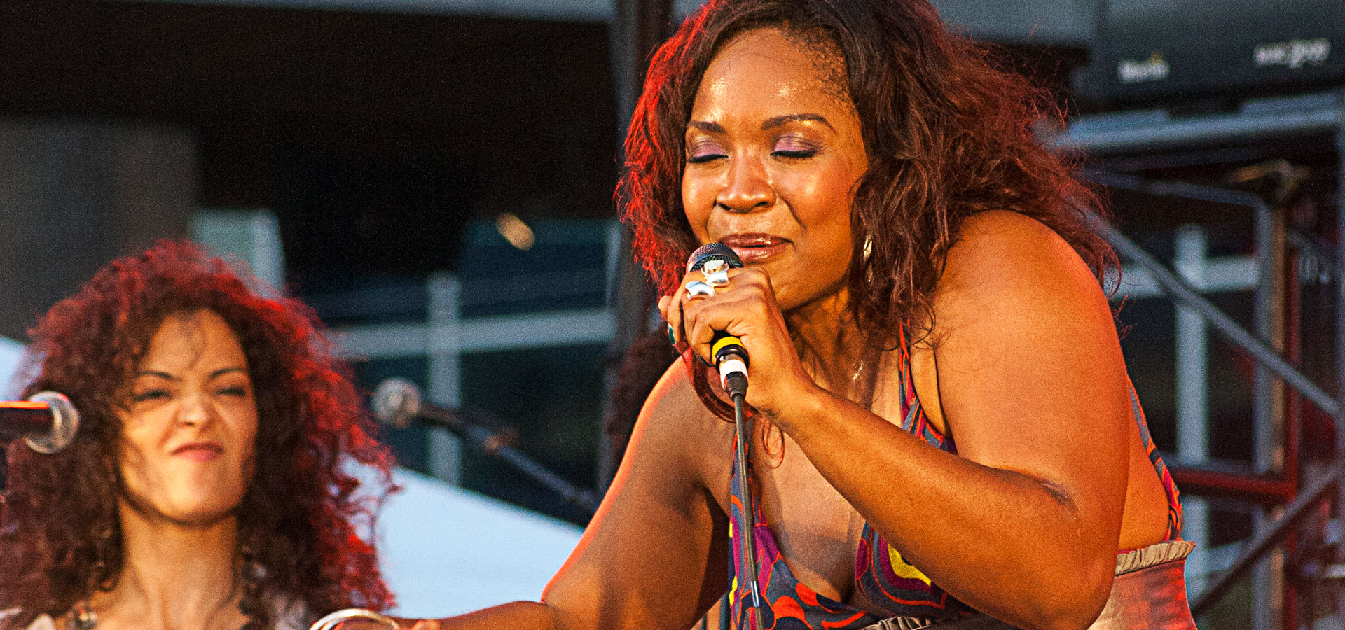 Divine Brown at Dundas Square for the Live Green Toronto Festival