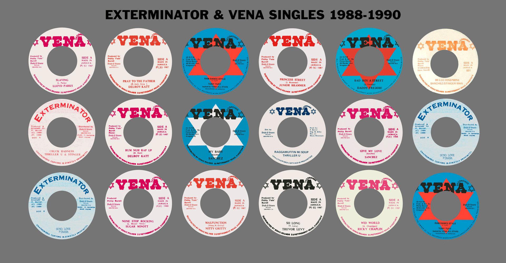 Exterminator & Vena Singles 1988-1990: album cover